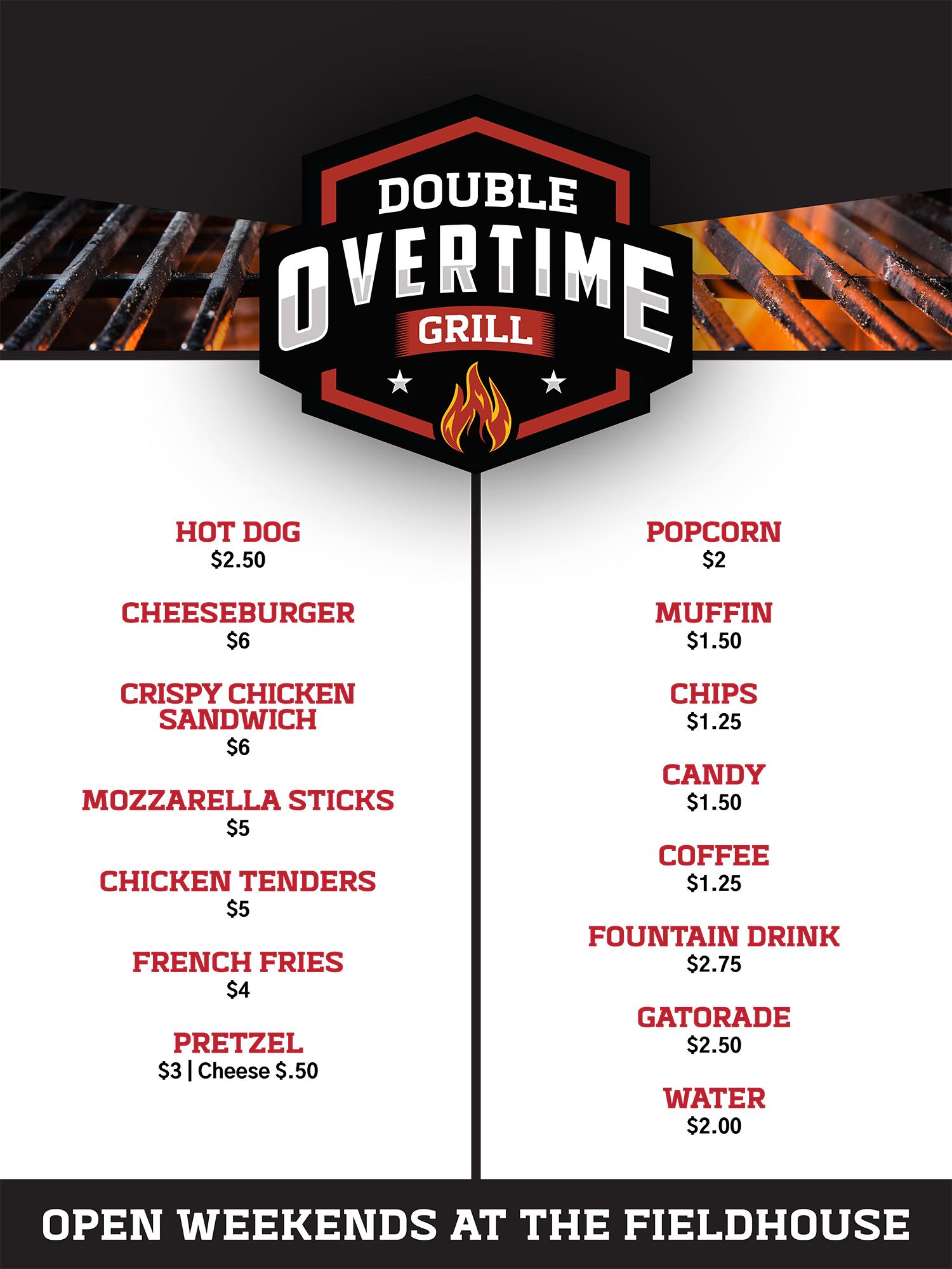 double overtime menu